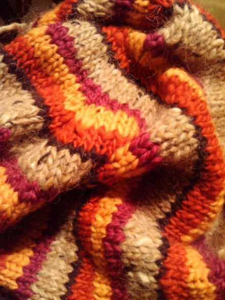 hand knit self designed sweater
